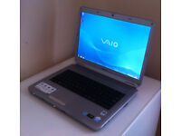 "SONY VAIO VGN-NS20E 15.4"", FAST 2.20GHz(x2), 3GB, 250GB, WIFI, WEBCAM, DVDRW, OFFICE, AVG, WINDOWS 7"
