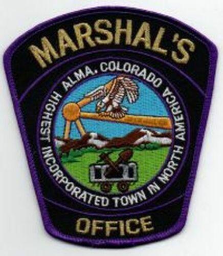 COLORADO CO ALMA MARSHAL NEW PATCH POLICE SHERIFF