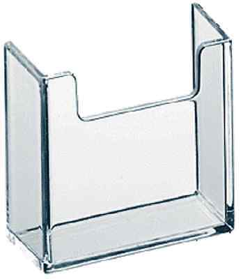 Qty 5 Vertical Business Card Attachment Acrylic Holder Hardware Clear