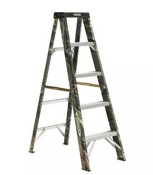 Werner 5FT Ladder Fiberglas. Type 2 - 225 lbs. Capacity Step Ladder. Camouflage