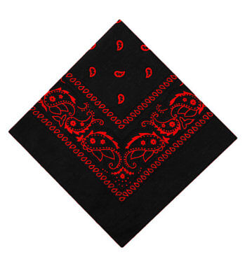 Paisley Bandana (Paisley Bandana Schwarz-Rot  Kopftuch Halstuch Nickituch Bikertuch Motoradtuch )
