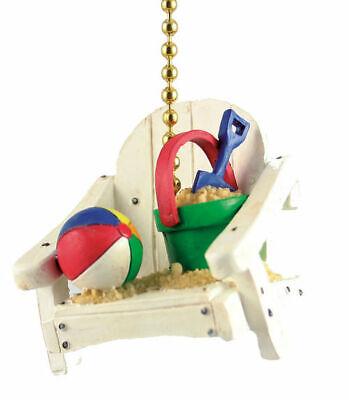 Island Beach Chair with Sand Bucket and Beach Ball Decor Ceiling Fan Light Pull](Beach Ball Lights)