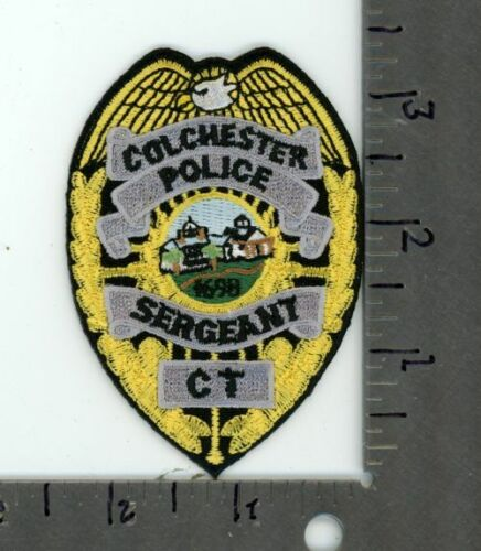 CONNECTICUT CT COLCHESTER POLICE SERGEANT NEW PATCH SHERIFF