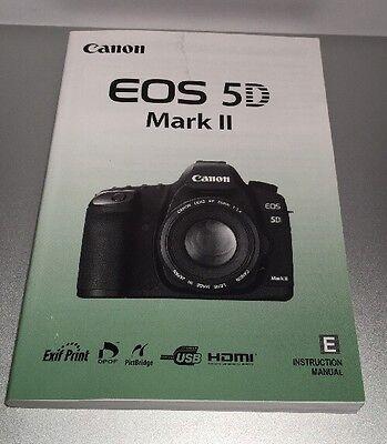 Genuine Canon EOS 5D Mark II Instruction Manual