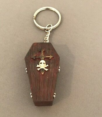 Keychain Coffin Casket Cross Skull Gothic  - Cross Key Chains