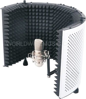 SoundLab Studio Microphone Adjustable Reflection Screen / Vocal Isolation Booth for sale  Margate
