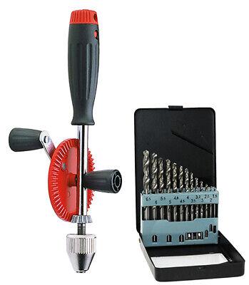 Corvus Kinder Werkzeug Handbohrmaschine 600058 mit Bohrersatz 600059 2er Set NEU
