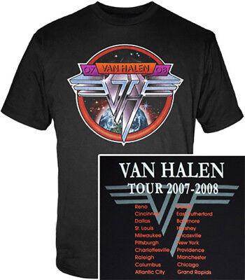 Van Halen Circle Logo 2007 2008 Tour Shirt - 3XL New Official XXXL Classic Roth 2007 Classic Logo T-shirt
