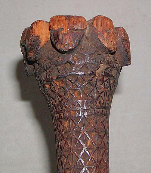 Antique NORTH POLYNESIAN AUSTRALIAN ISLANDS CARVED CEREMONIAL STAFF, Museum