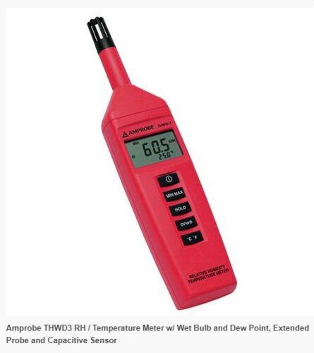Amprobe THWD-3 Relative Humidity Temperature Meter Model: THWD-3
