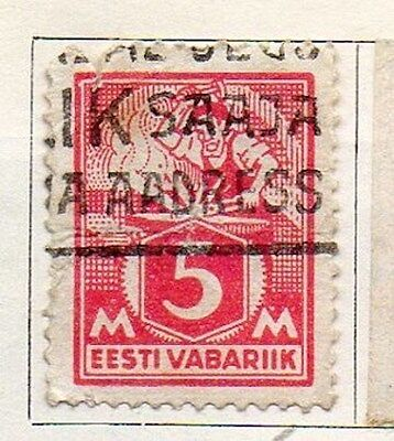 Estonia 1922 Early Issue Fine Used 5m. 103519