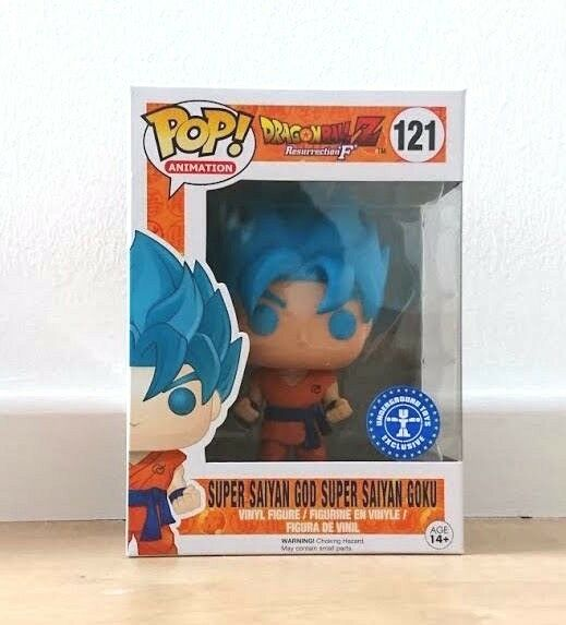 Funko Figurine Dragon Ball Z - Super Son Goku God Blue Exclusive Pop