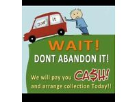 Jack the lad here to help! Cash paid for scrap or unwanted cars and free quote on garden maintenance