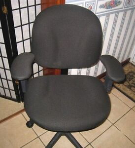 Black Computer Office Chair, adjustable seat and arm's height