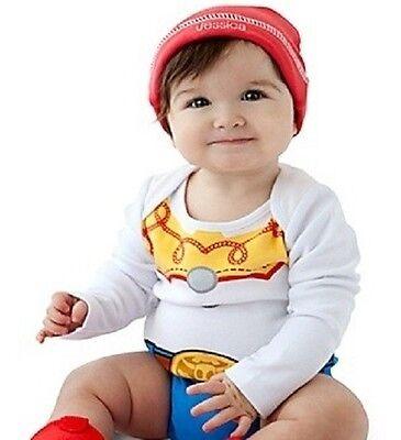 Jessie~Cuddly~BODYSUIT + RED HAT~NWT~Infant 0-24M~Costume~Disney Store~Toy - Infant Jessie Costume