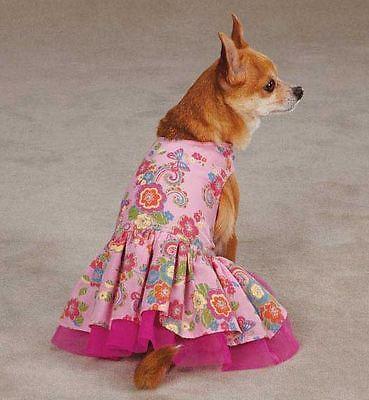 Spring Garden Dog Dress  pet dresses pink tulle underlay pleated skirt (Spring Garden Tulle Skirt)