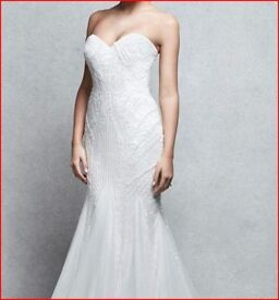 ***BRAND NEW!*** Strapless wedding dress: size 10 - 12