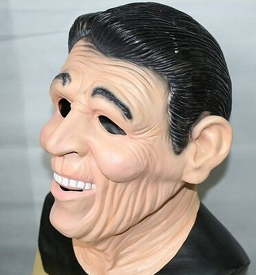 Ronald Reagan Mask Dead Ex Presidents Latex Halloween Fancy Dress Point Break](Presidents Mask)