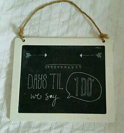 Days until wedding sign