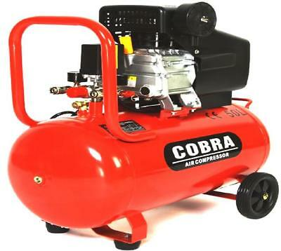 Cobra 50 Litre Air Compressor - 9.6CFM, 2.5HP, 50L 115PSI 8 BAR POWERFUL