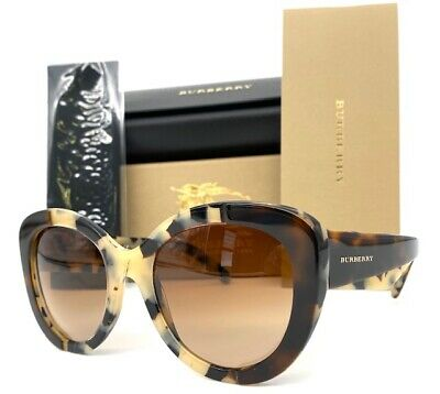 Burberry BE4253 365413 Top Havana Beige / Brown Gradient 54mm (New Burberry Sunglasses)