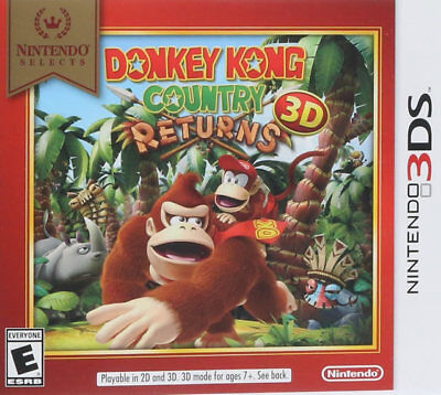 Donkey Kong Country Returns (select) 3ds Nintendo 3ds, Ni...