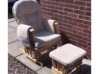 Nursery Rocking Chair & Stool