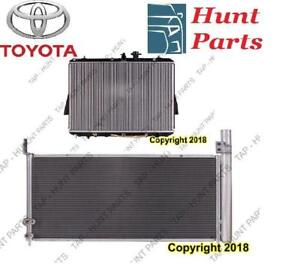 All Toyota AC compressor Condenser Radiator Support Fan Cooling Compresseur AC Condenseur Radiateur Support Ventilateur