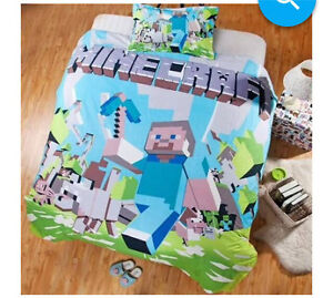 WANTED-Minecraft/Creeper Doona/Quilt Cover Birmingham Gardens Newcastle Area Preview
