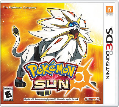 Pokemon Sun 3ds Nintendo 3ds, Nintendo 3ds