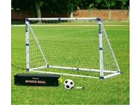 Kids football goal post with shoot out & rebound nets