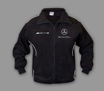 Neu Herren Sport Mercedes AMG Fleece Jacke Fan Bekleidung mit Stickerei  Bekleidung Fleece Jacken