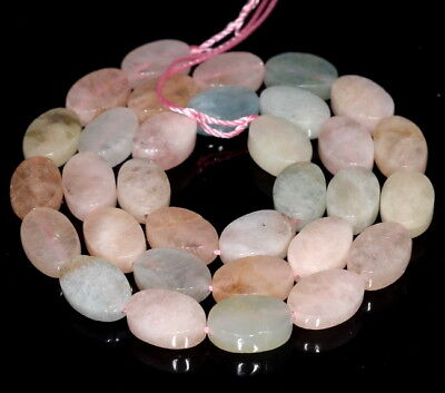8X10MM  MORGANITE GEMSTONE FACETED OVAL LOOSE BEADS 15.5