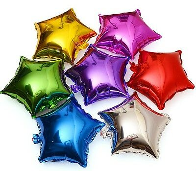 New 18'' Star Shaped Balloons Birthday Party Wedding Decor Helium Foil Baloons (Star Baloon)
