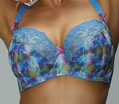 Bügel BH blau türkis Übergröße große Größen Unterwäsche Damen Dessous (Unterwäsche Damen-große Größen)
