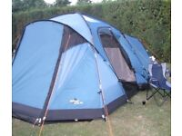 Vango Orchy 500 Family Tent which Sleeps 5 with Extension