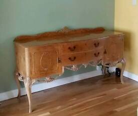 Gorgeous burr walnut sideboard table, 1920s