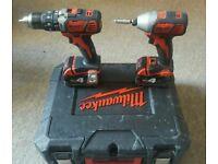 18v milwaukee combo drill set