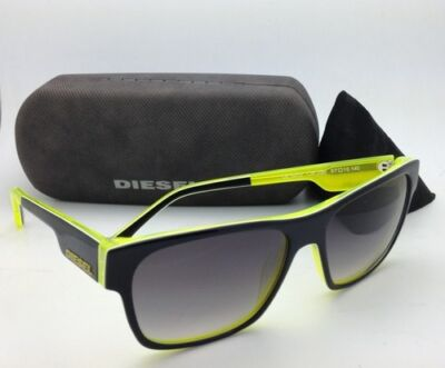 Used, Authentic DIESEL Sunglasses DL 0012 05B 57-16 Black & Yellow w/ Grey gradient for sale  Shipping to India