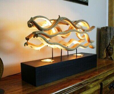 Treibholz Tischlampe 62cm Altholz Tischleuchte Holz Lampe Stehlampe Landhaus