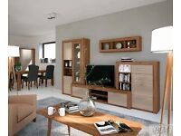 Oakland Wall Unit Set TV Table Cabinet - Brand New