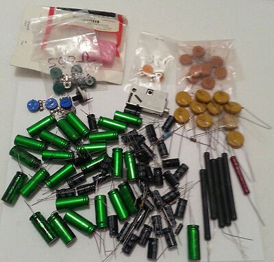 Big Lot Of Random Capacitors Resistors And Potentiometers And More
