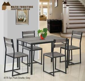 5 PC Dinnette Set with Grey Finish | Dining Furniture Sale (MA304)