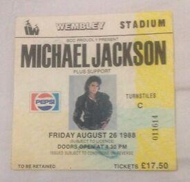 3 x Michael Jackson Ticket stubs (Wembley Stadium)