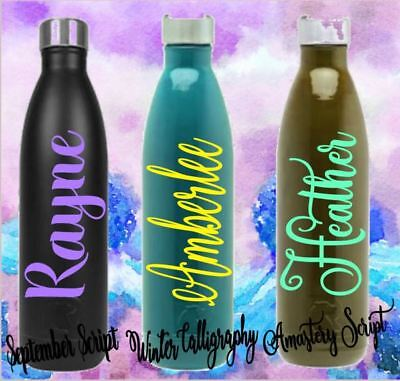 Personalized Name Monogram Vinyl Decal For Your Tumbler Water Bottle Cup on - Plastic Cups For Sale