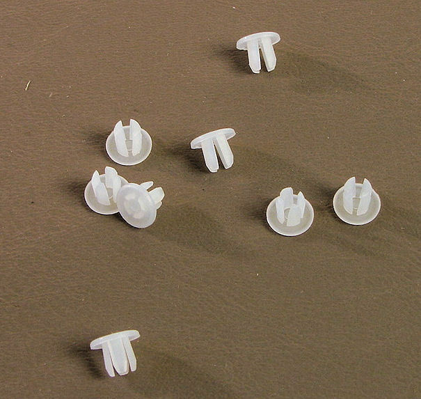 "8 Pack Off White Plastic 1/8"" Hole Plugs                     HPW-125"