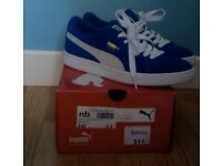 Mint condition Puma Suede Classics - blue and white UK 5.5 worn once