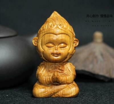 Thuja wood Hand Carving Sun Wukong Figurines Statues Wooden crafts