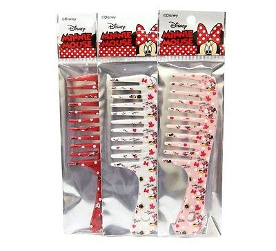 Disney MINNIE MOUSE Red / White / Pink COLOR RANDOM Small Pocket Hair Comb Girls