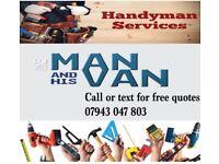 man with van & handy man / painting decorating , plastering, electrics, sockets lights etc